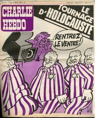 CHARLIE HEBDO N°431 - LE TOURNAGE D'HOLOCAUSTE