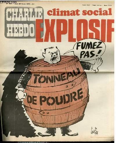 CHARLIE HEBDO N°432 - CLIMAT SOCIAL EXPLOSIF