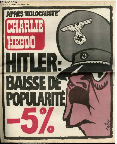 CHARLIE HEBDO N°434 - HITLER : BAISSE DE POPULARITE -5%