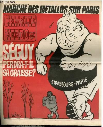 CHARLIE HEBDO N°435 - MARCHE DES METALLOS SUR PARIS, SEGUY PERDRA-T-IL SA GRAISSE ?