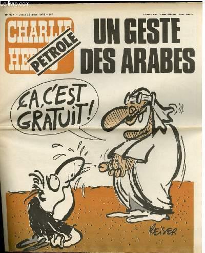 CHARLIE HEBDO N°437 - PETROLE, UN GESTE DES ARABES