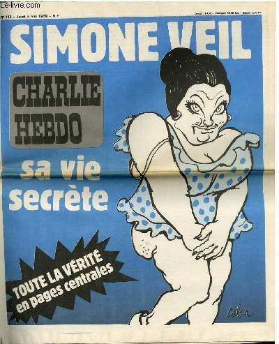 CHARLIE HEBDO N�442 - SIMONE VEIL SA SEXUALITE