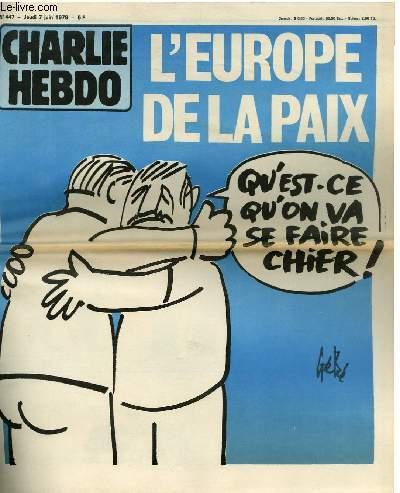 CHARLIE HEBDO N�447 - L'EUROPE DE LA PAIX