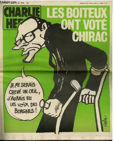 CHARLIE HEBDO N°448 - LES BOITEUX ONT VOTE CHIRAC