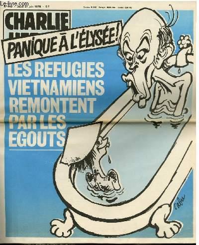CHARLIE HEBDO N°449 - PANIQUE A L'ELYSEE ! LES REFUGIES VIETNAMIENS REMONTENT PAR LES EGOUTS