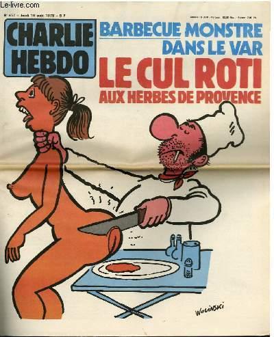 CHARLIE HEBDO N°457 - BARBECUE MONSTRE DANS LE VAR, LE CUL ROTI AUX HERBES DE PROVENCE