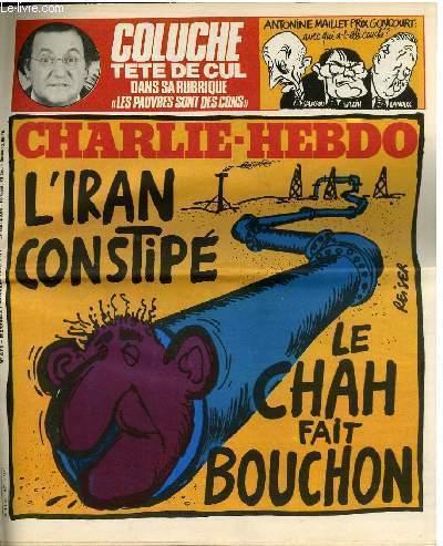 CHARLIE HEBDO N°471 - L'IRAN CONSTIPE, LE CHAH FAIT LE BOUCHON