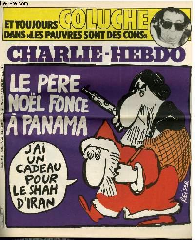 CHARLIE HEBDO N°475 - LE PERE NOËL FONCE A PANAMA