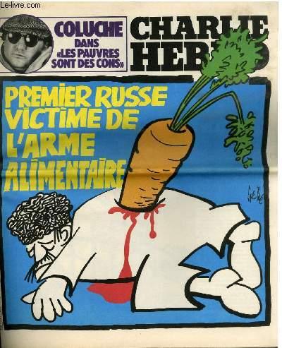 CHARLIE HEBDO N°479 - PREMIER RUSSE VICTIME DE L'ARME ALIMENTAIRE