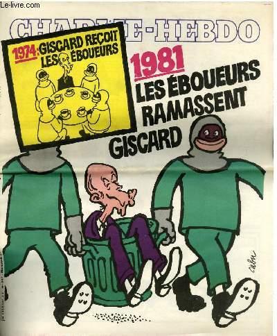 CHARLIE HEBDO 1981 CABU GISCARD