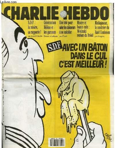 COLLECTIF - CHARLIE HEBDO N°74 - SDF AVEC UN BATON DANS LE CUL C'EST MEILLEUR