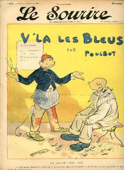 LE SOURIRE N°314 - SEPTIEME ANNEE. LA LOI DE DEUX ANS.