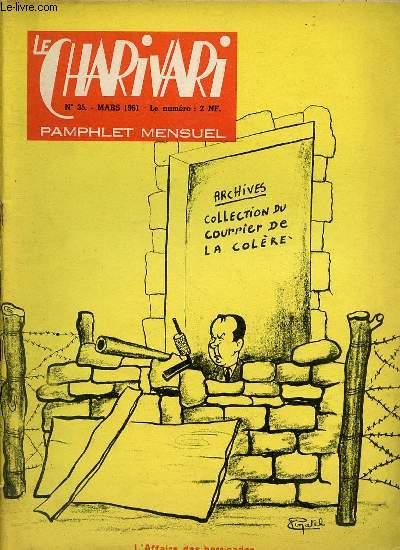 LE CHARIVARI N°35 - PAMPHLET MENSUEL. L'AFFAIRE DES BARRICADES.