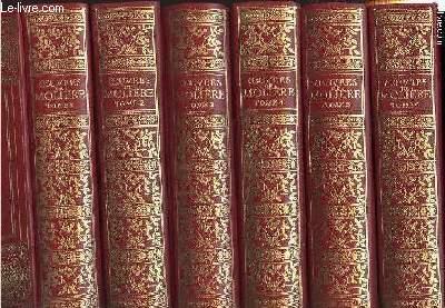 LES OEUVRES COMPLETES DE MOLIERE EN 6 TOMES (1+2+3+4+5+6 - COMPLET) - Illustrées de gravures de l'époque de l'auteur et comprenant les suites monumentales de Boucher, Coypel, Moreau le jeune, Buguet, Desenne, Johannot, Horace Vernet, Hédouin.