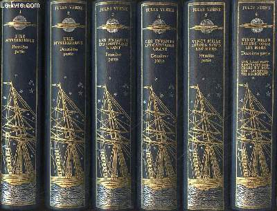 LES VOYAGES EXTRAORDINAIRES 21 VOLUMES -L'ile mystérieuse : 2 tomes. Les enfants du capitaine Grant : 2 tomes. Vingt mille lieux sous les mers : 2 tomes. De la terre à la lune, autour de la lune. Cinq semaine en ballon, un drame dans les airs,