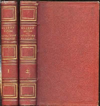 HISTOIRE DE LA REVOLUTION D'ANGLETERRE DEPUIS L'AVENEMENT DE CHARLES Ier JUSQU'A SA MORT EN 2 TOMES (1+2).