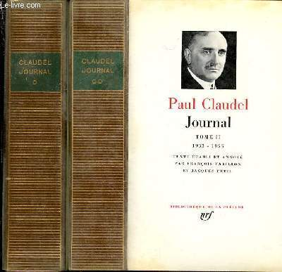 JOURNAL EN 2 TOMES : TOME 1 (1904-1932) + TOME 2 (1933-1955).