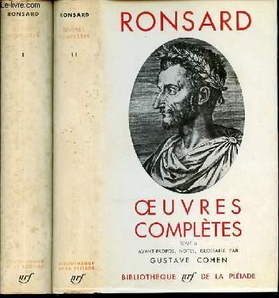 OEUVRES COMPLETES EN 2 TOMES (1+2) - AVANT-PROPOS, NOTES, GLOSSAIRE PAR GUSTAVE COHEN.