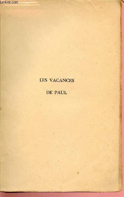 LES VACANCES DE PAUL.