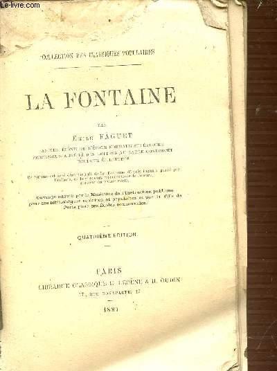 LA FONTAINE - COLLECTION DES CLASSIQUES POPULAIRES.