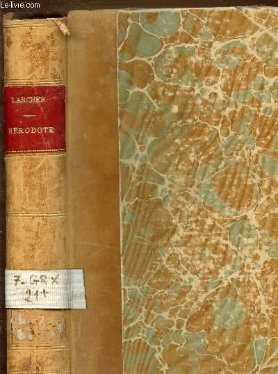HISTOIRE D'HERODOTE - TRADUCTION DE LARCHER REVUE ET CORRIGEE.