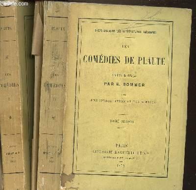 LES COMEDIES DE PLAUTE EN 2 TOMES : 1+2 / UNE INTRODUCTION ET DES NOTICES.