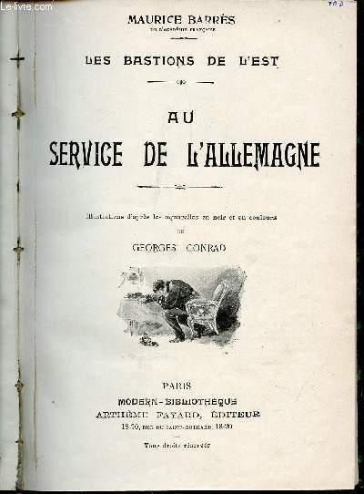 AU SERVICE DE L'ALLEMAGNE - LES BASTIONS DE L'EST.