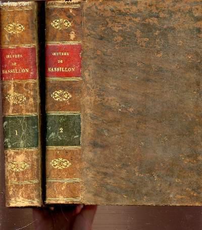 OEUVRES DE MASSILLON, EVEQUE DE CERMONT EN 2 TOMES : 1+2.