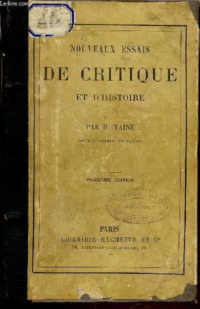 NOUVEAUX ESSAIS DE CRITIQUE ET D'HISTOIRE. TROISIEME EDITION.