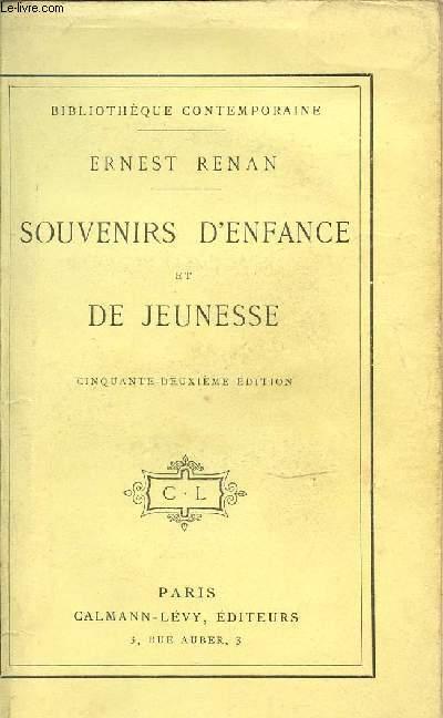SOUVENIRS D'ENFANCE ET DE JEUNESSE.