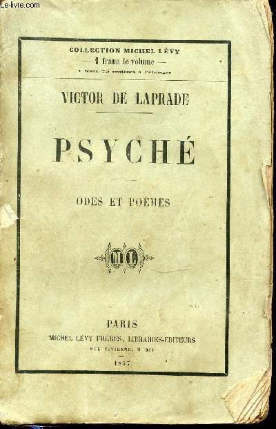 PSYCHE - ODES ET POEMES. COLLECTION MICHEL LEVY.