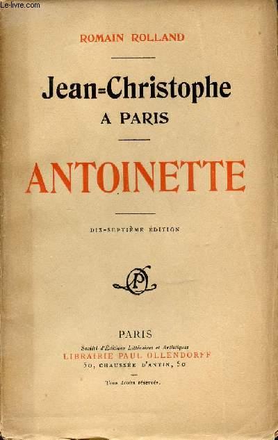 JEAN CHRISTOPHE A PARIS - ANTOINETTE.