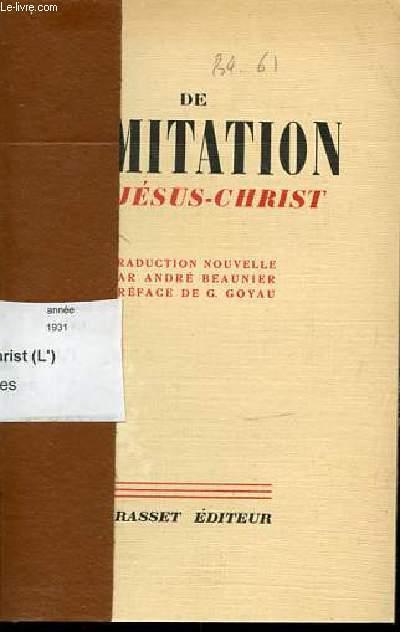 DE L'IMITATION DE JESUS-CHRIST.