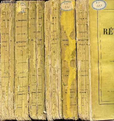 HISTOIRE DE LA REVOLUTION FRANCAISE EN 6 TOMES (1+2+3+4+5+6).