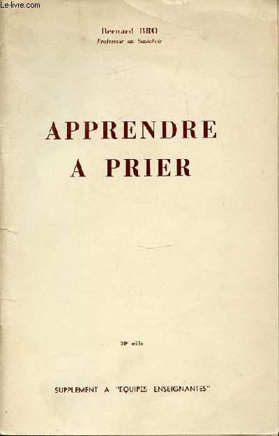 APPRENDRE A PRIER. SUPPLEMENT A