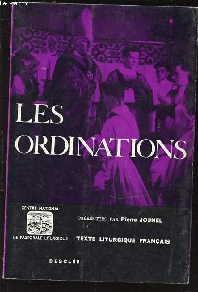 LES ORDINATIONS - TEXTE LITURGIQUE FRANCAIS.