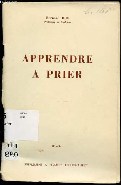 APPRENDRE A PRIER - SUPPLEMENT A