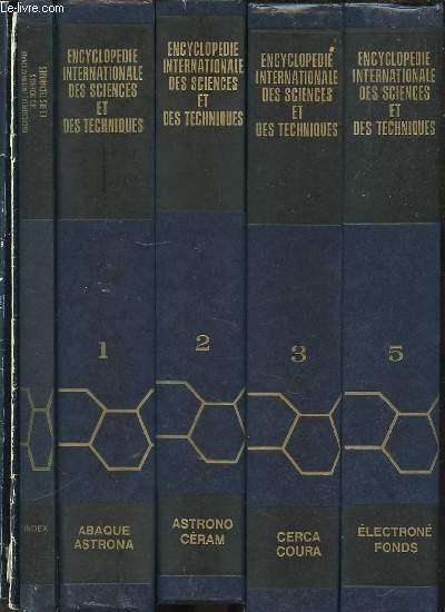 ENCYCLOPEDIE INTERNATIONALE DES SCIENCES ET DES TECHNIQUES EN 11 VOLUMES DONT INDEX. COMPLET.