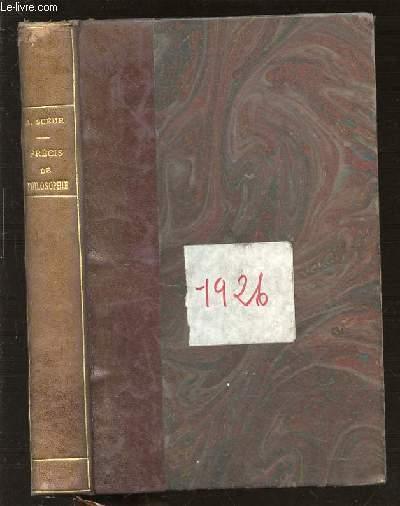 NOUVEAU PRECIS DE PHILOSOPHIE (SECOND EXAMEN DU BACCALAUREAT) / PROGRAMME DU 3 JUIN 1925.