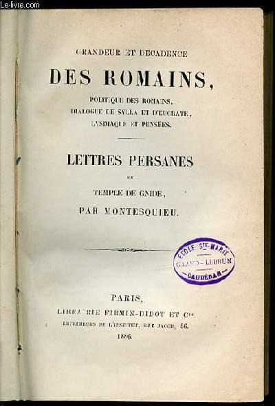 Dissertation sur la politique des romains dans la religion french edition