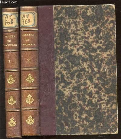 THEATRE COMPLET DE AUGUSTE VACQUERIE EN 2 TOMES : TOME 1 (TRAGALDABAS, LES FUNERAILLES DE L'HONNEUR) + TOME 2 (SOUVENT HOMME VARIE, JEAN BAUDRY, LE FILS).