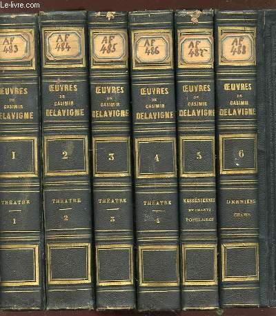 OEUVRES COMPLETES DE CASIMIR DELAVIGNE - AVEC UNE NOTICE DE M. GERMAIN DELAVIGNE.