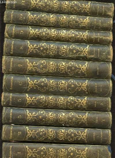 OEUVRES COMPLETES DE J. J. ROUSSEAU EN 25 TOMES NUMEROTES DE 1 A 27 - MANQUE TOME 4 ET TOME 19.