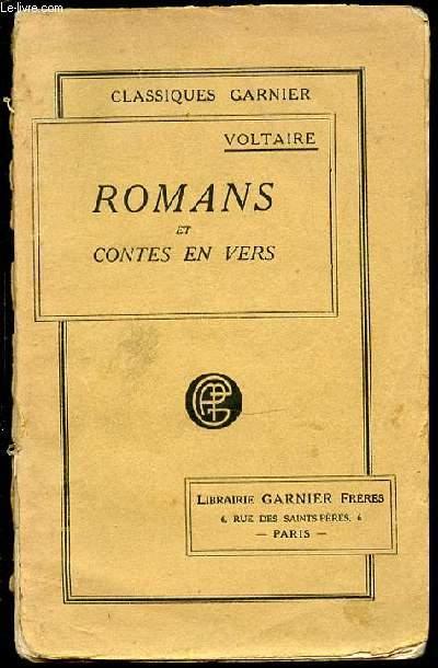 ROMANS DE VOLTAIRE SUIVIS DE SES CONTES EN VERS.