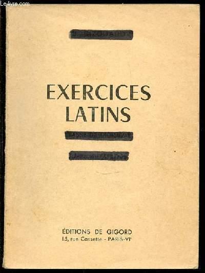EXERCICES LATINS - CLASSE DE TROISIEME. LIVRE DU MAITRE.
