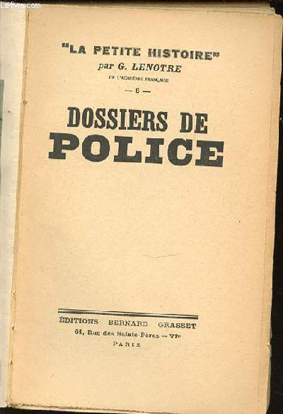 DOSSIERS DE POLICE - COLLECTION