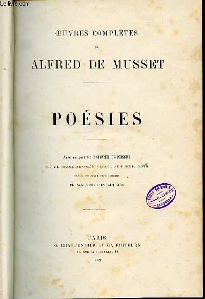 OEUVRES COMPLETES DE ALFRED DE MUSSET - POESIES.