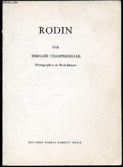 RODIN : L'ECOLIER TACITURNE, LES TEMPS DIFFICILES, LA DIVINE COMEDIE, L'HOTEL BIRON, LA GRANDE OMBRE, LA GLOIRE POSTHUME, ETC.