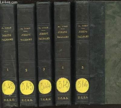 JOSEPH BALSAMO EN 5 TOMES (1+2+3+4+5) - MEMOIRES D'UN MEDECIN.