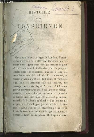 HISTOIRE D'UNE CONSCIENCE.